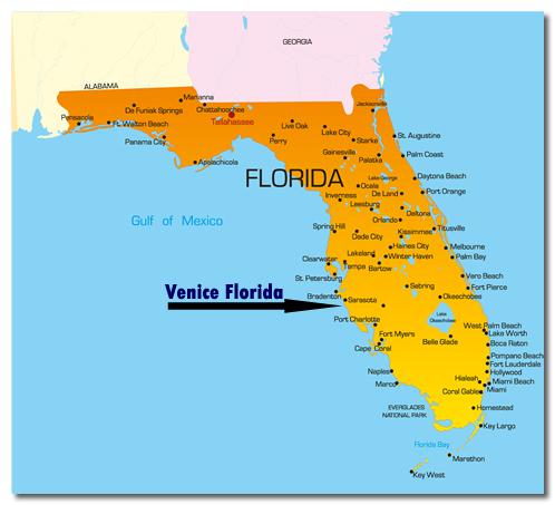 Map Of Venice Florida Venice Florida Shark Tooth Collecting